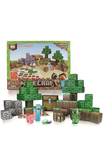 Minecraft Papercraft Overworld Set - papercraft minecraft 90 piezas quot deluxe set