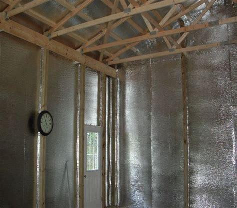 wood shed insulation how to finished pole barn foil insulation in gable roof and