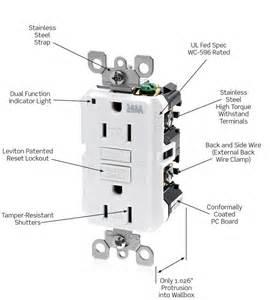 leviton wt899 w 20 amp 125 volt smartlock pro slim weather resistant and ter resistant gfci