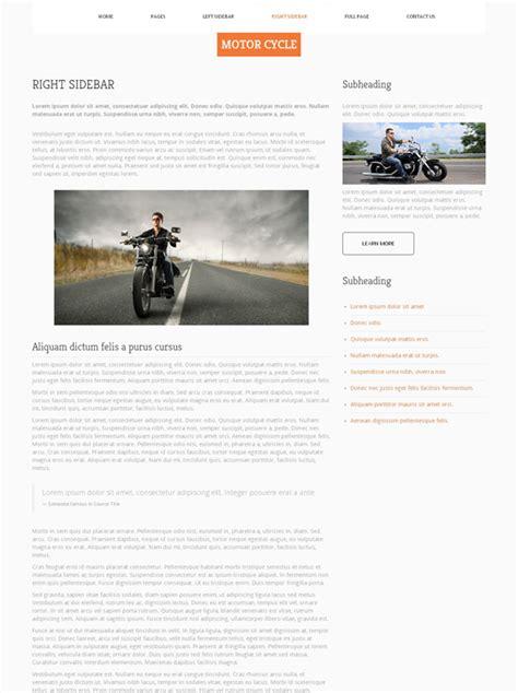 motosport templates motorsport website template motorcycle website
