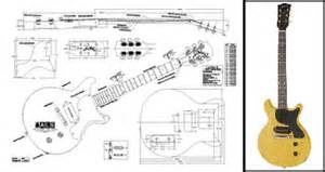 gibson sg electric guitar plans actual size radha plans idea