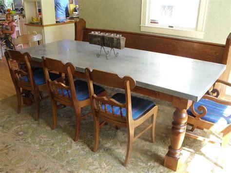 zinc table top metaltoppedtables com