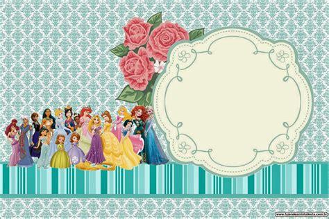 invitaci n de bautizo de princesa para imprimir todas las princesas disney invitaciones para imprimir