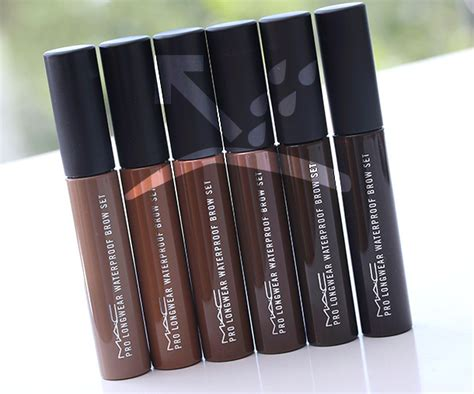 Mac Pro Longwear Waterproof Brow Set Brown Cp 280 the waterproof brow collection by mac will cure brows of aquaphobia and whip them into shape
