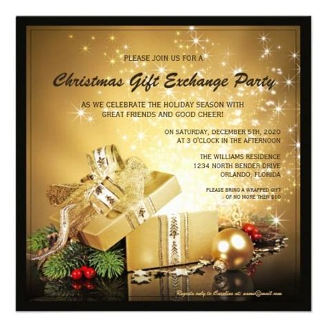 Star Gift Card Exchange - 1000 images about christmas and holiday party invitations