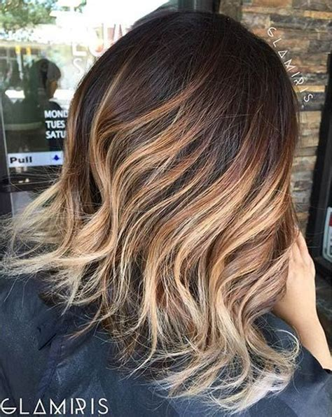 caramel and blondebob styles 199 best images about ombr 233 balayage ecaille on