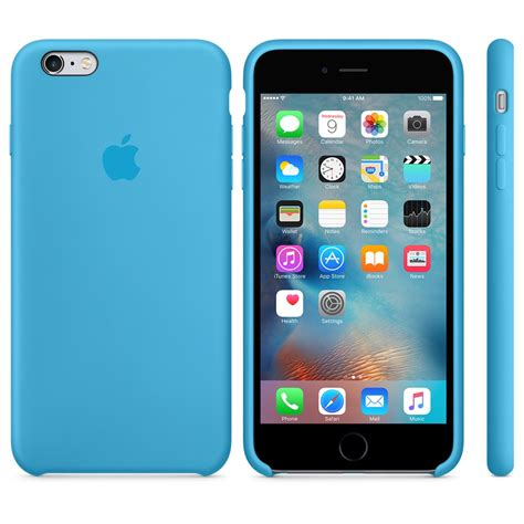 apple iphone   silicone case blue