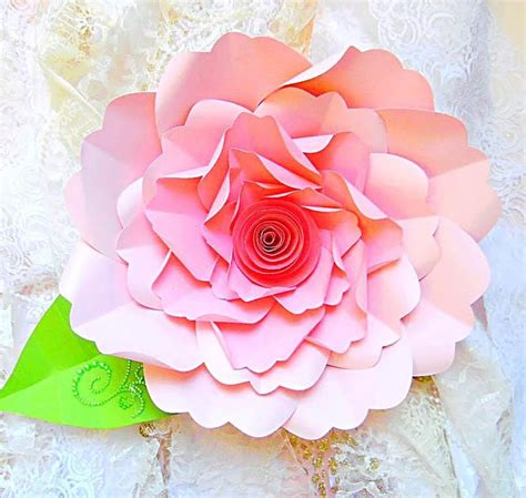 huge paper flower tutorial diy large paper flower tutorial with templates rosette