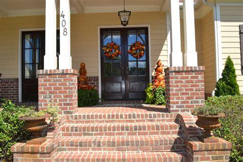 Brick Front Porch Steps Decor You Adore Jacki S House Tour Frank Betz Souders