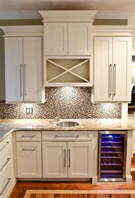 Built In Wine Racks For Kitchen Cabinets White Shaker Cabinets Shaker Cabinets And Wine Racks On