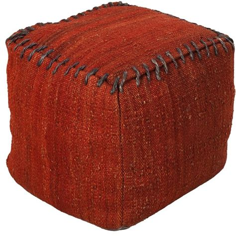 ottomans poufs contemporary surya poufs square red pouf ottoman