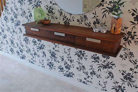under shelf hanging drawer custom walnut floating wall shelf by clark wood creations