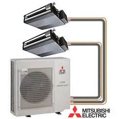 Mister Slim Mitsubishi Mitsubishi Mr Slim 2 Zone Ducted Heat With 12k 12k