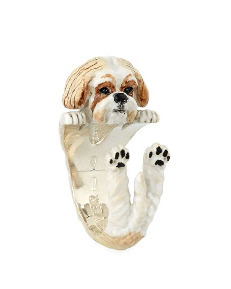 shih tzu fever fever shih tzu enameled hug ring size 7 and matching items