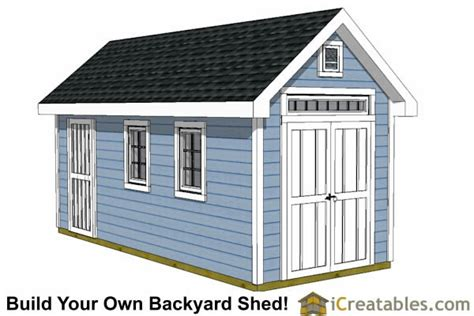 8x16 Shed Plans by 8x16 Traditional Backyard Shed Plans
