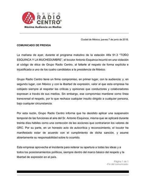 Suspende Radio Centro a Toño Esquinca porque insultó a
