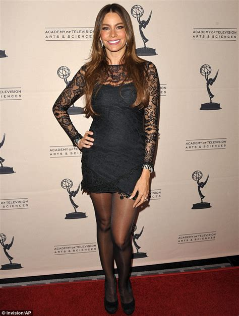 Heels Simple Glossy All Series sofia vergara ditches hair look for glossy sleek finish as she shines at emmy award