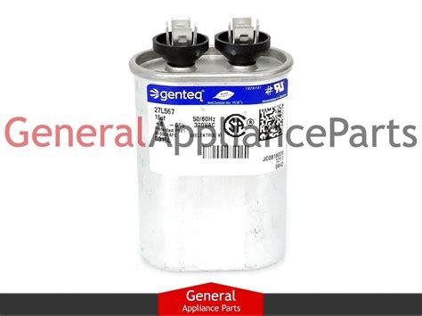 ge refrigerator capacitor whirlpool roper kenmore kitchenaid refrigerator capacitor 15 uf 370 vac 482956 ebay