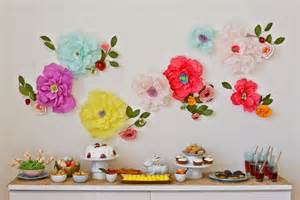 paper table decorations to make make your home wall beautiful by paper flower wall