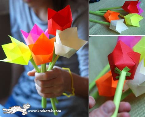 How To Make Paper Tulips Easy - adorable and simple way to make paper tulips i bet using