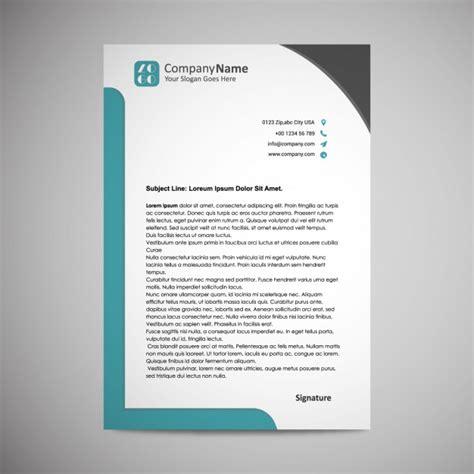 vector letterhead template design