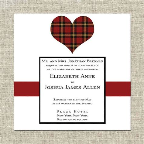 wedding invitations perth scotland scottish wedding invitation tartan by cremepaperie