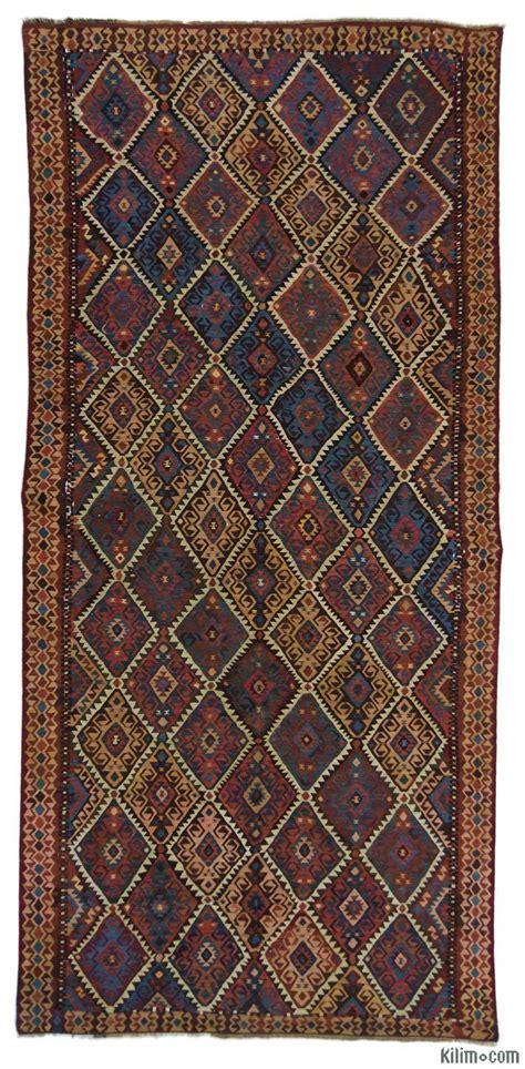 antique kilim rugs k0015963 brown vintage kagizman kilim rug