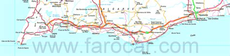 printable road map of portugal faro maps gt algarve portugal