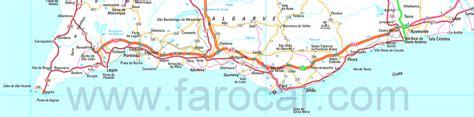 printable portugal road map faro maps gt algarve portugal