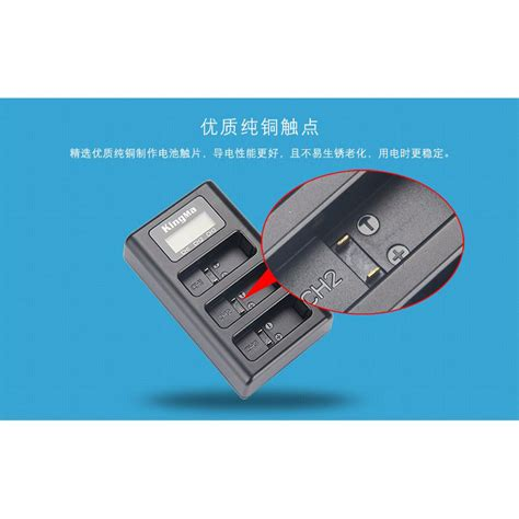 Baterai Charger kingma charger baterai 3 slot gopro 5 ahdbt 501