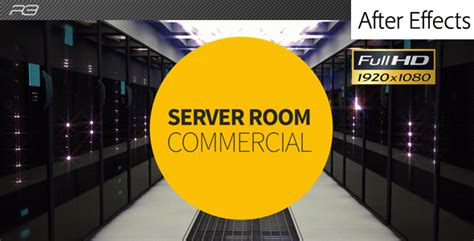 server room hosting commercial after effects template