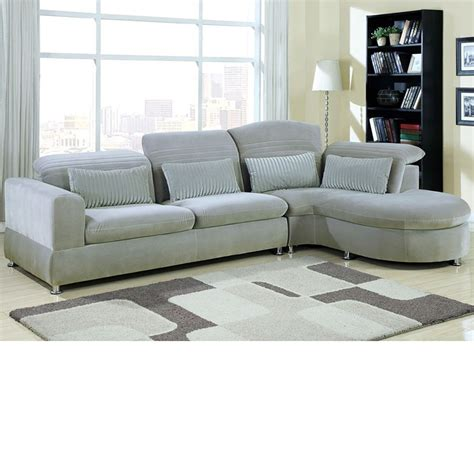 Plush Sectional Sofas Dreamfurniture 50230 Oron Grey Ultra Plush Sectional Set