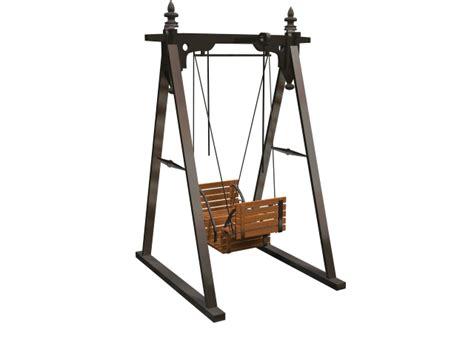 swing 3d model garden swing seat 3d model 3dsmax files free