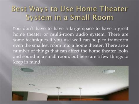ppt best ways to use home theater in a small room