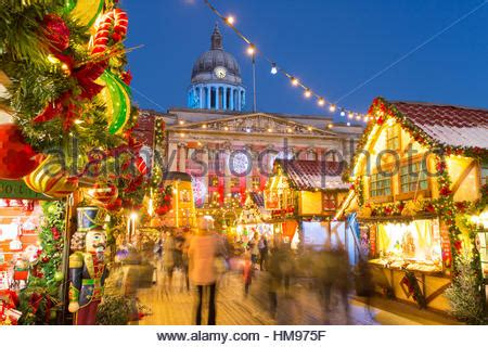 town hall christmas nottingham nottingham town with lights and rink stock photo royalty free image