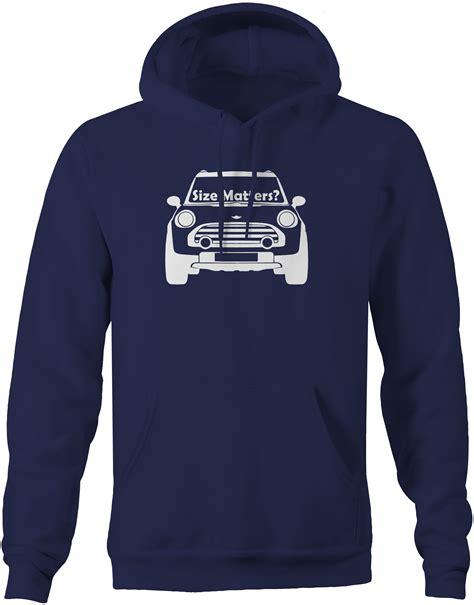 Hoodie Mini Coopers Ssmlxl Hitam Mini Cooper Size Matters Front Racing Sweatshirt