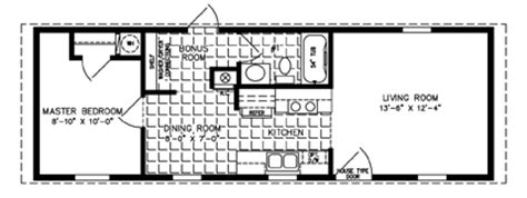 Jacobsen Manufactured Homes Floor Plans by One Bedroom Mobile Homes L 1 Bedroom Floor Plans