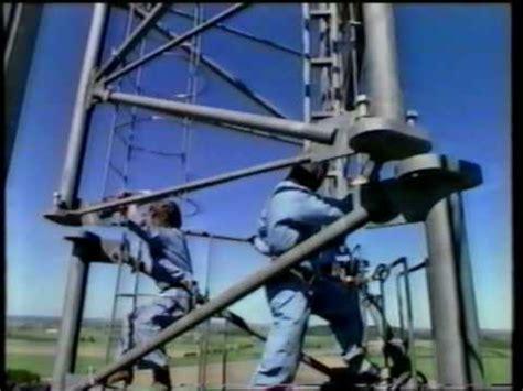 erection  antenna tower youtube