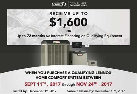 lennox home comfort system lennox fall promotion russell s hvac
