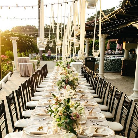 planning an outdoor wedding at home ideas for outdoor wedding reception tables popsugar home