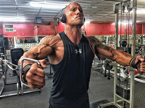 how much does dwayne the rock johnson bench dwayne quot the rock quot johnson and his rock hard physique playo