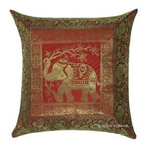 Toss Pillows 17 Quot Elephant Silk Brocade Cushion Throw Toss