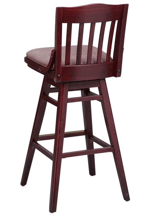 Commercial Wood Bar Stools | regal seating series 454 commercial wooden swivel bar