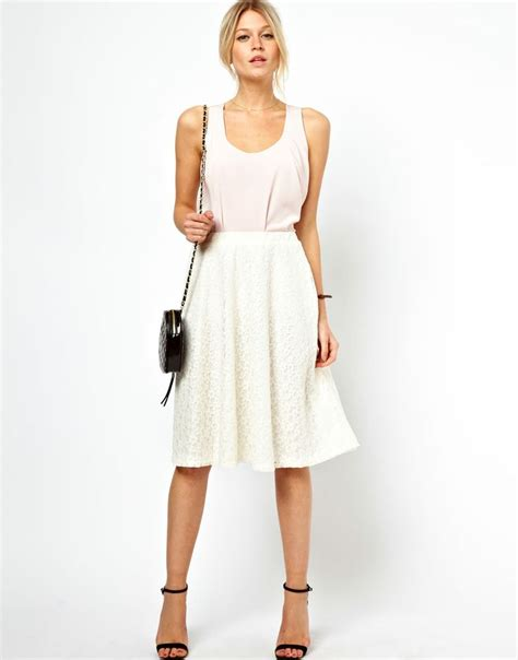 classic lace midi skirt pretty products to wear