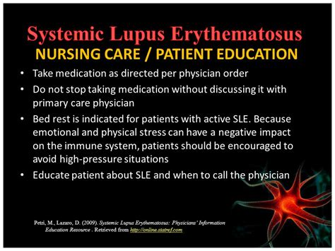 sle patient care report systemic lupus erythematosus ppt