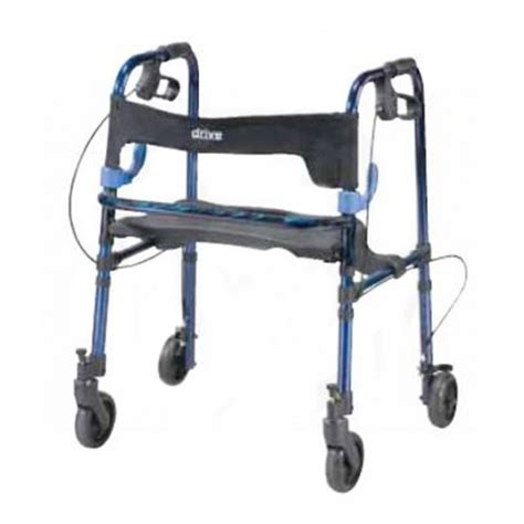 drive 4 wheel walker with seat clever lite rollator walker or child size 10230 10230j