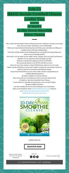 Leader Detox Smoothie by 10 Day Green Smoothie Cleanse Lose Up To 15 Pounds In 10