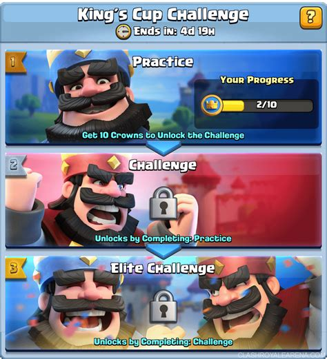 best tips for king s cup challenge clash royale guides
