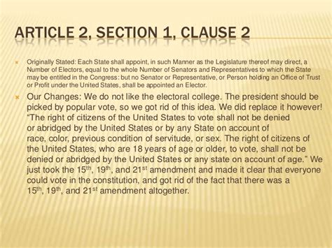 article 2 section 1 clause 2 constitution edits