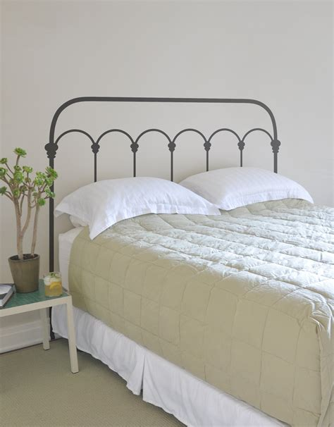 Ideas Design For Iron Headboards Bedroom Design Wrought Iron Headboard With Smooth Beige Bedding And White Pillows Plus
